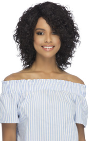 "14"" Remi Layered Spiral Curl [Wet & Wavy] w/ Side Bang Pure Stretch Cap Wig WW-HELIOS"