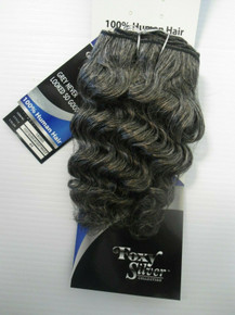 "8"" Salt n' Pepper 100% Human Hair Deep Wave Weave Track Grey Color 44"