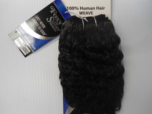 "8"" Salt n' Pepper 100% Human Hair Deep Wave Weave Track Grey Color 34"