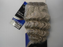 "8"" Salt n' Pepper 100% Human Hair Deep Wave Weave Track Grey Color 60 Silver Grey"