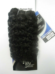 "10"" Salt n' Pepper 100% Human Hair Jerry Curl Weave Track Grey Color 280"