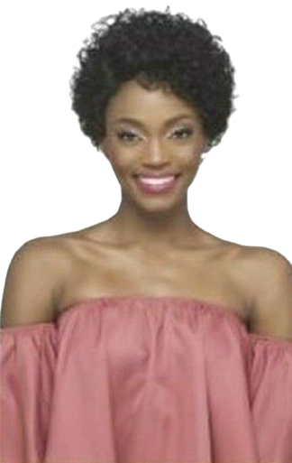 Short Remi Pure Stretch Cap Layered tight Rod Set Curl with Full volume Bang Right Side Part-Naya Wig
