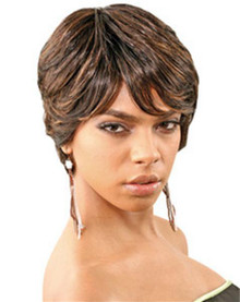 Femi Short Straight Human Hair Full Wig - BINA