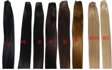 "18"" Human Hair Extension Weave Silky Straight Track Weft 100g"