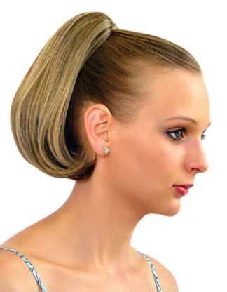 """Short Straight 9"""" Clip on Drawstring Ponytail Hairpiece - DM30"""