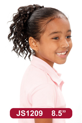 "8"" Synthetic Hair Drawstring Ponytail Kids Spiral Hairpiece #209"