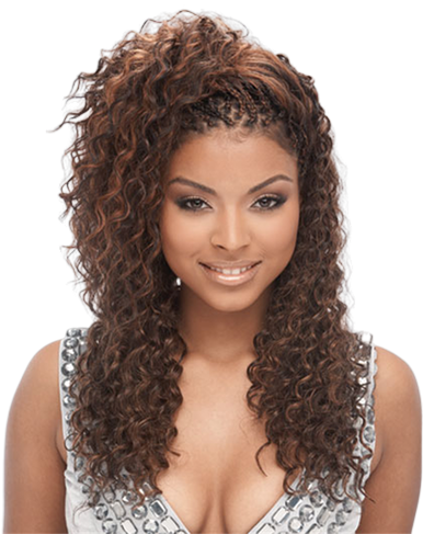 "18"" Human Hair Premium Blend Deep Wave Bulk for Braiding + Colors for Natural Look"