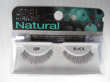 Ardell Natural Strip Lash Eyelashes: 109 Black (Pack of 4)