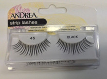 Andrea Fashion Strip Lashes Eyelash Style 45 Black (Pack of 4)