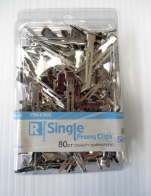 "Hair Metal Curl Clips [Single Prong] - All Purpose, 80 pcs, 1.75"" Long"