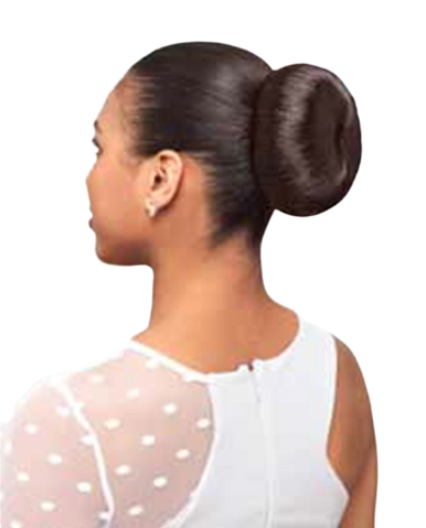 Foxy Silver Synthetic Hair Bun Large Donut Dome L Hairpiece