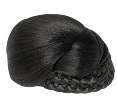 """Synthetic Hair Bun Hairpiece - Dome, One Side Braid 5"""""""