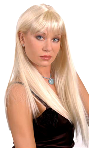 Silky Straight Hair Full Wig Blonde Colors - Alexis Color 613A