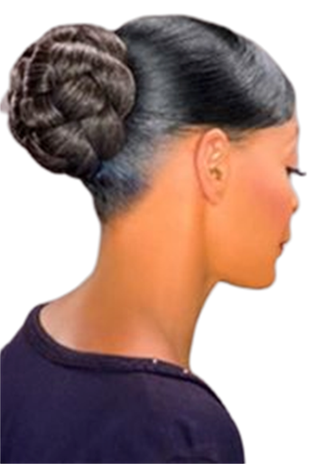Foxy Silver Synthetic Hair Bun Large Honey Dome L Hairpiece