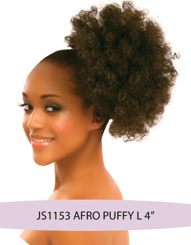 Synthetic Hair Drawstring Ponytail - AFRO Puffy Hairpiece