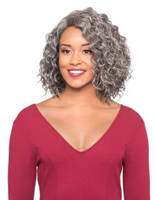 Foxy Silver Synthetic Hair Full Wig - Nellie - Grey Colors