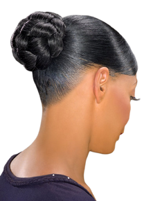 Foxy Silver Synthetic Hair Bun Medium Honey Dome M Hairpiece