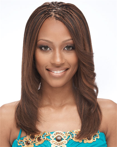 "18-20"" Human Hair Premium Blend Straight Yaki Bulk for Braiding + Colors for Natural Look"