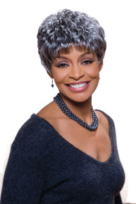 Foxy Silver Synthetic Full  Wig - Sassy Grey Colors Available