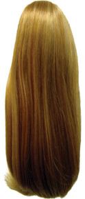 "Short Straight 10"" Claw Clip & Drawstring Ponytail Hairpiece Color 24B/27C"