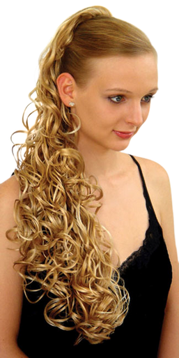 """25"""" Synthetic Hair Claw Clip & Drawstring Ponytail - DM27 - Color 24B/613"""