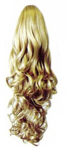 """18"""" Synthetic Hair Claw Clip & Drawstring Ponytail - DM42"""