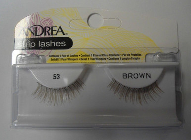 Andrea Fashion Strip Lashes Eyelash Style 53 Brown (Pack of 6)