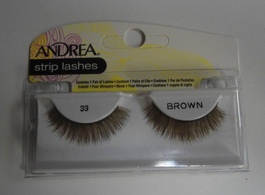 Andrea Fashion Strip Lashes Eyelash Style 33 Brown (Pack of 4)