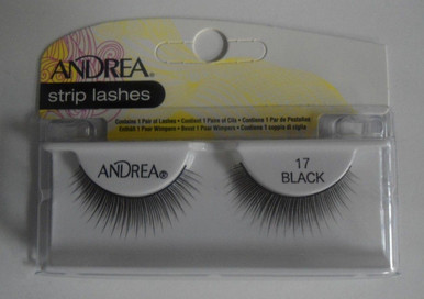 Andrea Fashion Strip Lash Eyelash Style 17 Black (Pack of 4)
