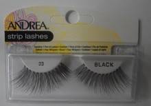 Andrea Fashion Strip Lash Eyelash Style 23 Black (Pack of 6)