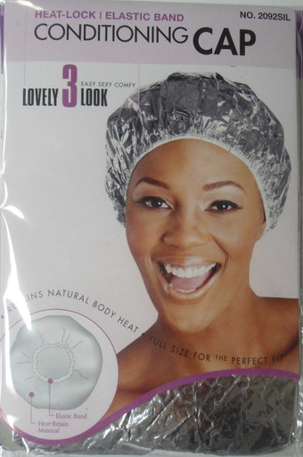 Magic X-Large Hair Conditioning Heat-Process Cap with Elastic Band- Silver Color