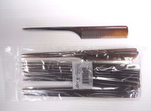 "Diane 12-Pack 9"" Thick Rat Tail Combs Color Tortoise - Essential Salon Tools"