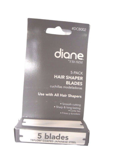 Diane by Fromm Japanese Steel Hair Shaper Blades 5-Pieces DCB002