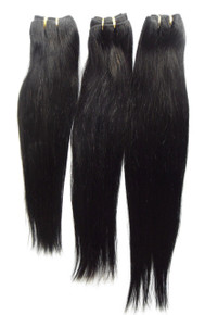 "3pcs Bundle 14"" 16"" 18"" 300g Brazilian Human Hair Wefts Straight Weave"
