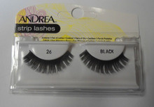 Andrea Fashion Strip Lashes Eyelash Style 26 Black (Pack of 6)