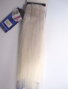 "Foxy Silver 14"" 100% Human Hair Straight Weave Track Platinum Grey"