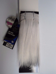"Foxy Silver 8""  100% Human Hair Straight Weave Track Platinum Grey"