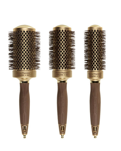 Olivia Garden Nanothermic Thermal 3pc Round Brushes NT-54 NT-44 NT 34 Deal
