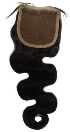 "Brazilian 4*4 Human Hair Free Part Closures Wavy 10"", 12"", 14"", or 16"""