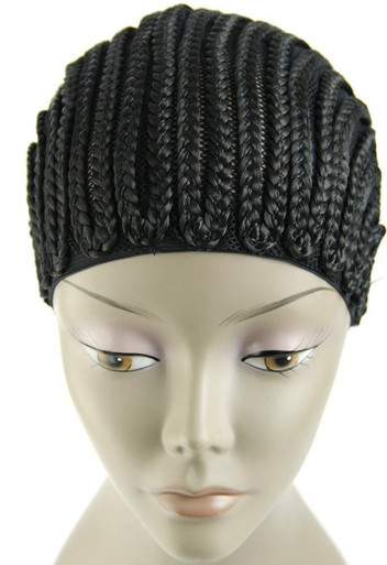 Black Horseshoe Braided Cap for Hair Weaves by Magic