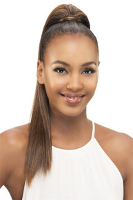 "Long Straight Yaki 18"" Synthetic Clip & Drawstring Ponytail Hairpiece PB183-V"