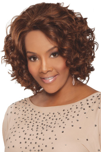 "Vivica A Fox 12"" Remi Human Hair Lace Front Wig Chante-V - Loose Spiral Curls"