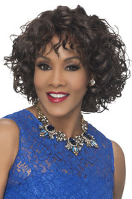 Vivica A Fox Short Synthetic Hair Pure Stretch Cap Full Wig Oprah-5