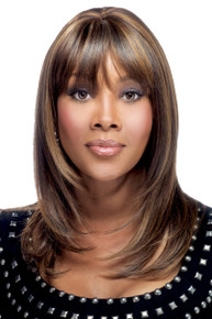 "Vivica A Fox 18"" Human Hair Pure Stretch Cap Full Wig H201-V"