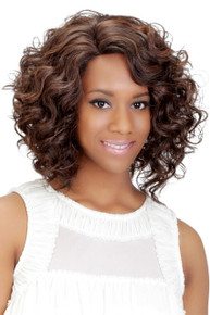 Vivica A Fox Synthetic Short Full Wig from Pure Stretch Cap Curly - Eloise