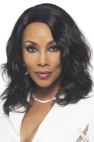 "Vivica A Fox 16"" Brazilian Human Hair Lace Front Wig Nature - Wavy  Natural Color"