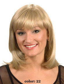 Medium Length Straight Hair Full Wig Blonde Colors - Renee