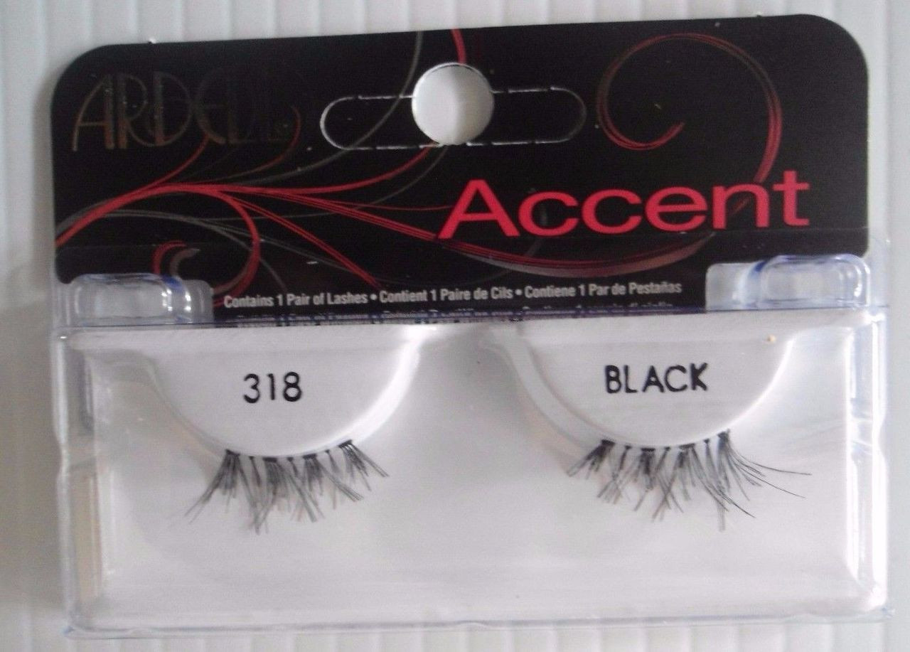 e35c8a2751a Ardell Strip Lashes Fashion Accent 318 Black (Pack of 6)