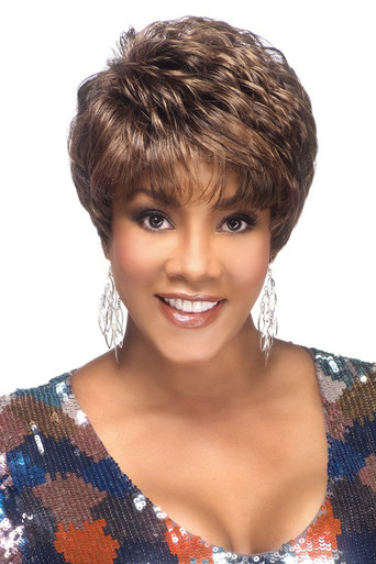 "Vivica A Fox 8"" Short Synthetic Hair Pure Stretch Cap Full Wig Amy-V"