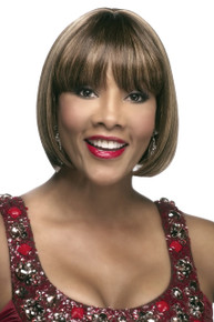 "Vivica A Fox 8"" Human Hair Pure Stretch Cap Wig H280-V Straight w/ Bang"